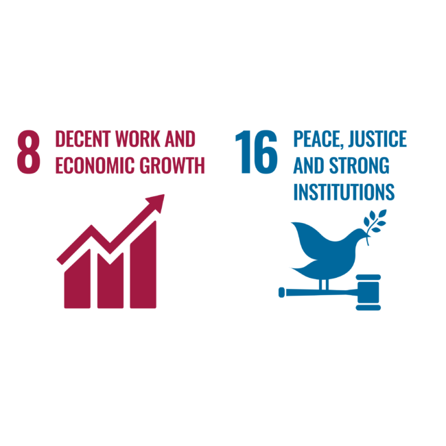UN Sustainability 8 and 16